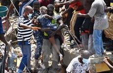 Vụ sập nhà chung cư 3 tầng tại Nigeria: Ít nhất 8 người đã tử vong