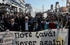 """Hy Lạp: Tưởng niệm 76 năm """"chuyến tàu chết chóc Holocaust"""""""