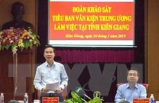 Đoàn Tiểu ban Văn kiện Đại hội XIII của Đảng làm việc tại Kiên Giang