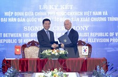 Việt-Hàn tăng cường hợp tác sản xuất các chương trình truyền hình