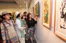 Lần đầu tiên tổ chức Triển lãm giao lưu mỹ thuật quốc tế Hàn-Việt