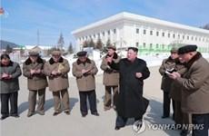 Nhà lãnh đạo Triều Tiên Kim Jong-un thị sát cơ sở đang được xây dựng