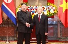 Điện mừng Chủ tịch Ủy ban Quốc vụ Triều Tiên Kim Jong-un