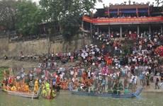 Lễ hội bơi chải truyền thống trên sông Lô dịp Giỗ Tổ Hùng Vương