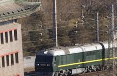 Tàu bọc thép của nhà lãnh đạo Triều Tiên Kim Jong-un rời ga Khasan