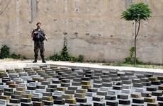 Quân đội Syria thu giữ nhiều loại vũ khí và đạn dược của phiến quân