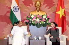 Chủ tịch Quốc hội Nguyễn Thị Kim Ngân tiếp Phó Tổng thống Ấn Độ