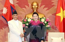 Chủ tịch Quốc hội Nguyễn Thị Kim Ngân hội kiến Thủ tướng Nepal