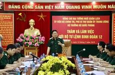 Bộ trưởng Bộ Quốc phòng Ngô Xuân Lịch làm việc với Binh đoàn 12
