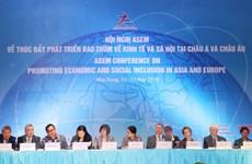 ASEM nhất trí thúc đẩy phát triển bao trùm về kinh tế và xã hội