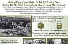 [Infographics] Những đóng góp nổi bật của Bộ đội Trường Sơn