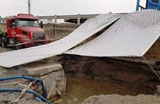 Khắc phục sự cố vỡ đường ống của Nhà máy nước mặt sông Đuống