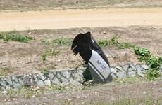Hiện trường vụ máy bay rơi trong khi huấn luyện ở Khánh Hòa