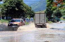 Kon Tum: Ngập nặng trên tuyến đường Hồ Chí Minh đoạn qua Ngọc Hồi