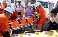 Cứu nạn thuyền viên bị chấn thương sọ não khi hành nghề trên biển
