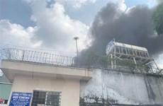 Kịp thời khống chế vụ cháy trong Khu công nghiệp Sóng Thần 2