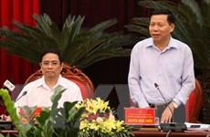 Trưởng Ban Tổ chức Trung ương Phạm Minh Chính làm việc tại Bắc Ninh
