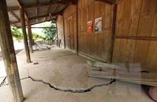 Điện Biên: Di dời người dân khỏi khối trượt gây sụt lún ở Tìa Dình
