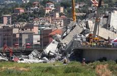 Italy tiến hành phá hủy phần còn lại của cây cầu cạn Morandi
