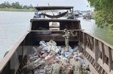 Thu giữ 7 tấn sắt phế liệu nhập lậu từ Campuchia về Việt Nam