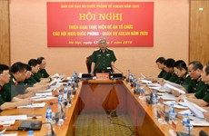 Triển khai đề án tổ chức các hội nghị quốc phòng-quân sự ASEAN 2020