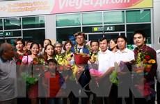 Nghệ An đón học sinh đoạt Huy chương bạc Olympic Toán quốc tế
