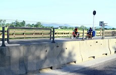 Nghệ An: Mất hàng loạt tấm lưới chống lóa trên tuyến Quốc lộ 1A