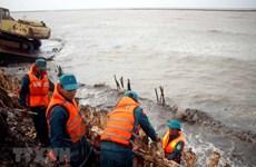 Hỗ trợ xử lý sự cố đê phòng hộ ven biển Tây ở tỉnh Cà Mau