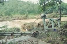 Bình Phước: Lũ cuốn trôi hai cầu treo dân sinh ở huyện Bù Đăng