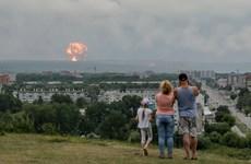 Sét đánh gây nổ liên tiếp tại kho đạn của Nga ở vùng Siberia