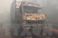 Cận cảnh hiện trường vụ cháy lớn tại Khu công nghiệp Phú Tài