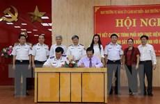Quảng Ngãi: Ký kết chương trình 'Cảnh sát biển đồng hành với ngư dân'