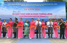 Khai mạc triển lãm ảnh 50 năm thực hiện Di chúc Chủ tịch Hồ Chí Minh
