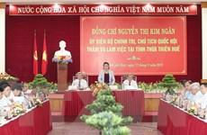 Chủ tịch Quốc hội: Thừa Thiên-Huế nên có những đột phá về kinh tế