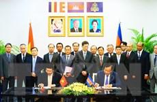 Việt Nam-Campuchia ký biên bản định hướng hợp tác 28 lĩnh vực
