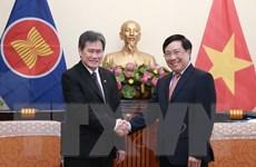 Phó Thủ tướng, Bộ trưởng Phạm Bình Minh tiếp Tổng Thư ký ASEAN