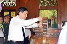 Nghệ An: Dâng hương tưởng niệm Bác Hồ và đồng chí Lê Hồng Phong