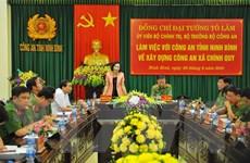 Bộ trưởng Tô Lâm: Nâng cao hiệu quả của công an xã chính quy tại cơ sở