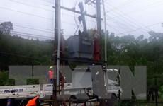 Điện lực miền Trung tập trung khắc phục sự cố lưới điện do mưa lũ