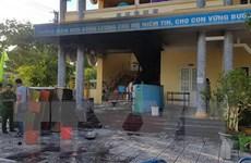 Cháy tại trường mầm non, kịp thời di chuyển học sinh đến nơi an toàn