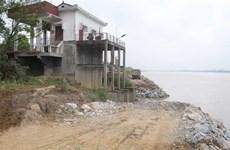 Phú Thọ xử lý khẩn cấp tình trạng sạt lở đê tả sông Thao