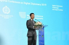 Đoàn Việt Nam tham dự Hội nghị khu vực về ngoại giao kỹ thuật số