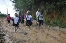 Chưa vào cao điểm mưa lũ, huyện Tu Mơ Rông đã sạt lở nặng