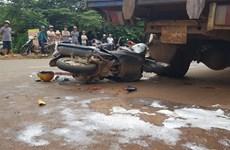 Bình Phước: Bất cẩn đâm vào đuôi xe tải, một phụ nữ chết thảm