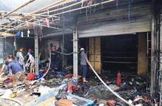 Hà Nội: Khẩn trương khắc phục hậu quả vụ cháy tại chợ Tó