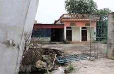 'Hố tử thần' gây đổ nhà cửa khiến người dân Mỹ Đức hoang mang