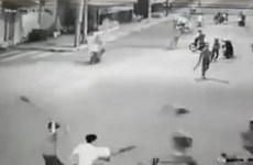 Bắt đối tượng trực tiếp chém xe lực lượng dân phòng ở Đồng Nai