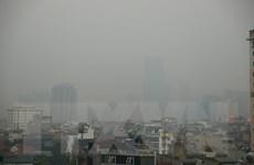 [Photo] Hà Nội mù mịt trong ngày chỉ số ô nhiễm không khí cao kỷ lục
