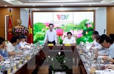 Ông Võ Văn Thưởng làm việc với VOV về công tác phòng chống tham nhũng
