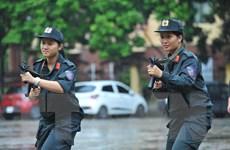 Ngắm nữ cảnh sát cơ động - những bóng hồng 'vượt nắng, thắng mưa'